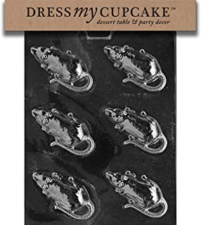 Dress My Cupcake Halloween Rat Chocolate Mold - H056 - Includes Melting & Chocolate Molding Instructions