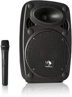 """auna Streetstar 8 mobiel PA-systeem muzieksysteem (8""""(20 cm) woofer, 200 watt max, radiomicrofoon, batterij) zwart"""