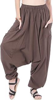 CandyHusky Cotton Loose Baggy Hippie Boho Gypsy Aladdin Yoga Harem Lounge Pants