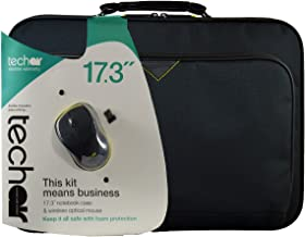 """Techair TABX416RA2 - Notebook carrying case - 17.3"""" - black - with wireless optical mouse"""