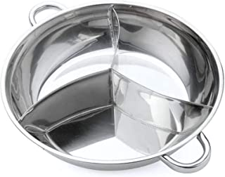 LXHDKDT Hot Pot, Fondueset, Fondue, Marmite, Faitout, Soup Pot, Pot Chaud en Acier Inoxydable De 40 Cm De Diamètre Trois U...