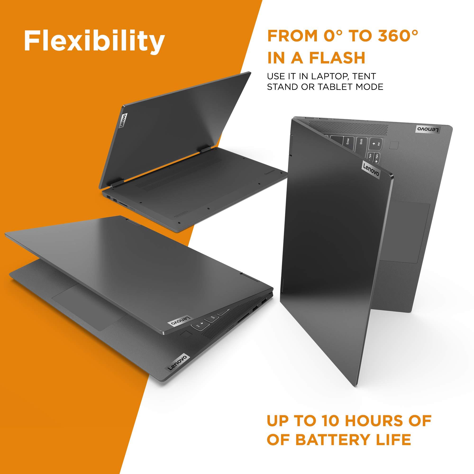 "Lenovo Flex 5 14"" 2-in-1 Laptop, 14.0"" FHD (1920 x 1080) Touch Display, AMD Ryzen 5 4500U Processor, 16GB DDR4, 256GB SSD, AMD Radeon Graphics, Digital Pen Included, Win 10, 81X20005US, Graphite Grey"