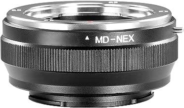 Neewer Lens Mount Adapter for Minolta MD MC Lens to Sony NEX E-Mount Camera,fits Sony NEX-3 NEX-3C NEX-5 NEX-5C NEX-5N NEX-5R NEX-6 NEX-7 NEX-F3 NEX-VG10 VG20 etc