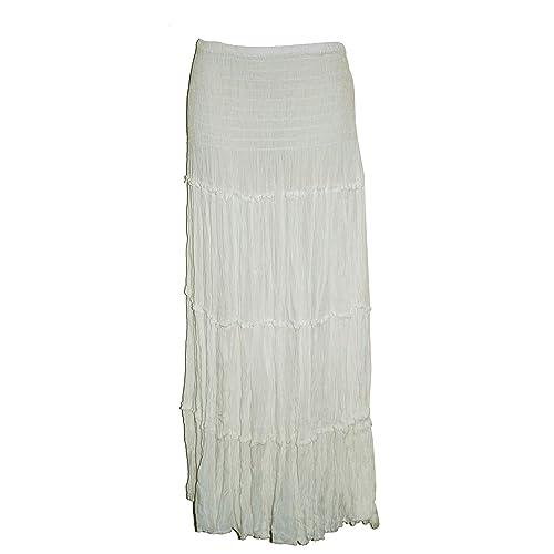 "EeZeeCat Ladies Maxi Hipster Hippy Boho Gypsy Skirt - 35"" Length from Hip"