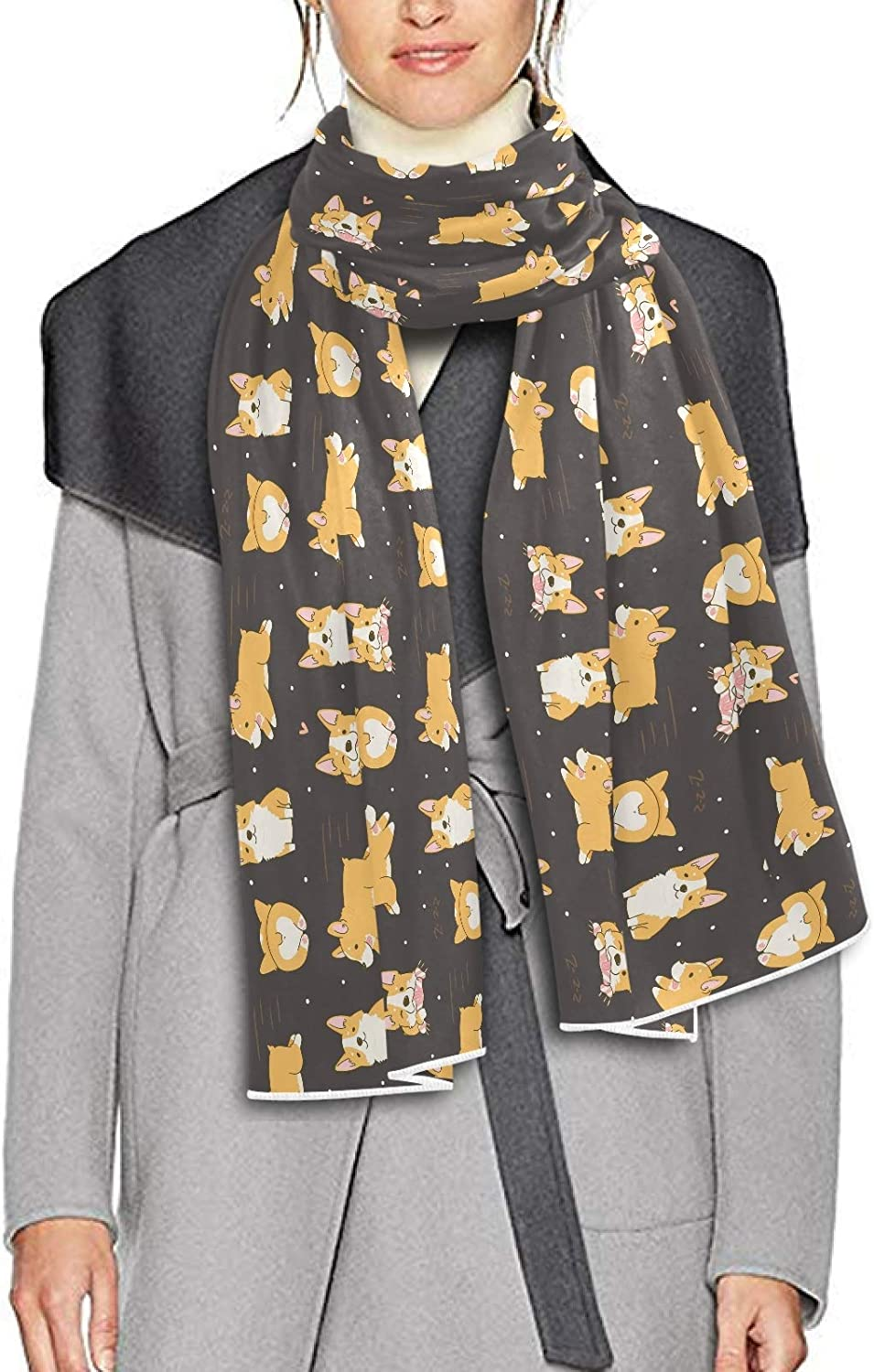 Scarf for Women and Men Corgi Cute Dogs Shawls Blanket Scarf wraps Soft Thick Winter Large Scarves Lightweight