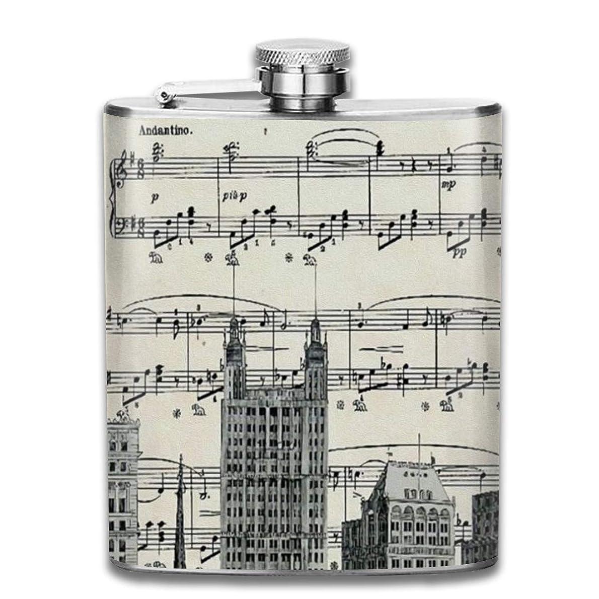 ロール非アクティブリアルニューヨークの歌フラスコ スキットル ヒップフラスコ 7オンス 206ml 高品質ステンレス製 ウイスキー アルコール 清酒 携帯 ボトル