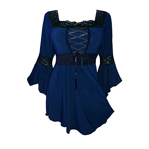1b972778274 Dare to Wear Victorian Gothic Peasant Women s Plus Size Renaissance Corset  Top