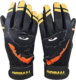 Black and Yellow Smiley Baseball Batting Gloves (Extra Large)