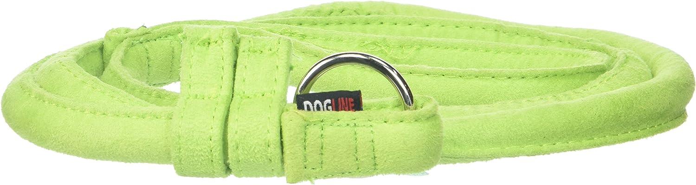 Dogline Soft Padded Comfort Microfiber Round Slip Lead Dogs, Green (W1 2  L60)
