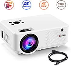 Nyork Mini Projector, [2019 Upgraded] Portable Video Projector, 4200 Lumen Movie Projector 200