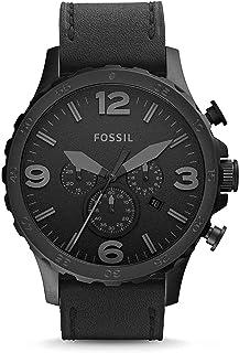 Montre FOSSIL en Cuir Noir - Homme - 50 mm