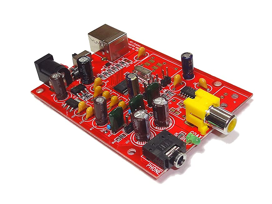 エッセンスジャンピングジャックチェスをするNFJオリジナル設計 Ti-BB製PCM2704搭載 USB DAC/DDC自作キット