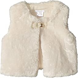 Sleeveless Faux Fur Cardigan (Infant)