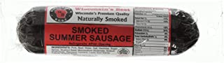 Wisconsin's Best - Smoked Summer Sausage - 12oz. ORIGINAL |Naturally Hickory Smoked | Slice and Eat