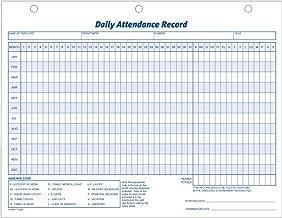 سجل Adams للحضانة اليومية، 8. 5 × 11 بوصة، 3 فتحات مثبتة، 50 عبوة، أبيض (9493)