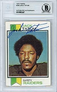 Jack Tatum Autographed 1973 Topps Rookie Card #288 Oakland Raiders Beckett BAS #10982287