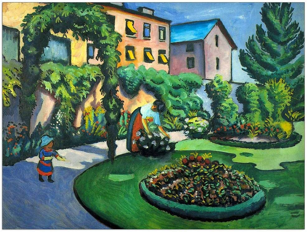 ArtPlaza Macke August Max Colorado Springs Mall 49% OFF - Garden Decorative image 35.5x27.5 Panel