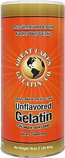 Great Lakes Gelatin, Certified Paleo Friendly, Keto Certified, Beef Gelatin Collagen Protein, Pasture-Raised, Grass-Fed, Non-GMO, Kosher, 16 oz. - FFP