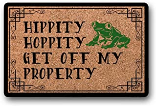 BXBCASEHOMEMAT Get Off My Property   Two Color   Doormat   Welcome Home   Funny Welcome Mat 23.6