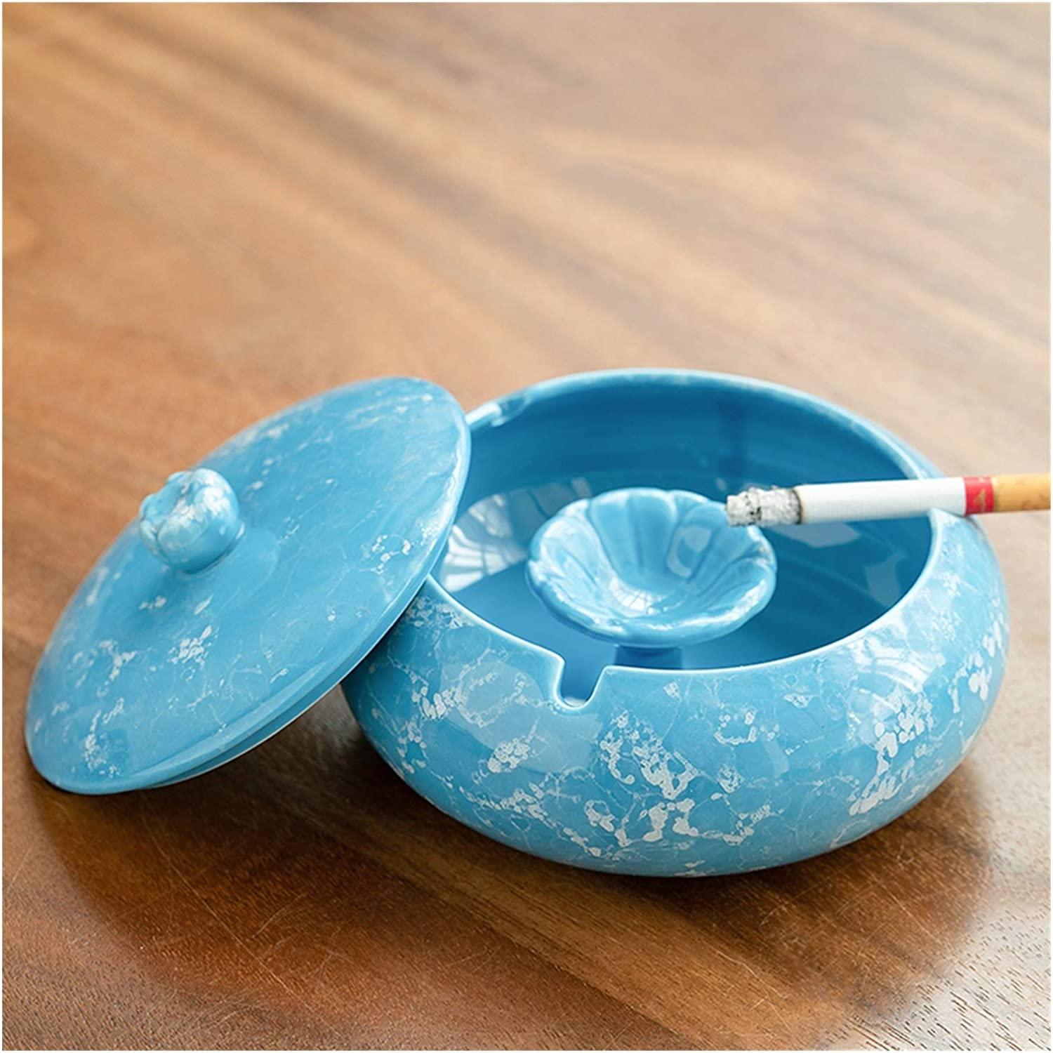 AOHAI Our shop OFFers the best service Ash Tray Handmade Austin Mall Marble Ashtray Minimalist with T Lid