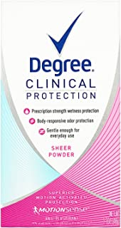 Degree Women Clinical Protection Anti-Perspirant Deodorant Sheer Powder 1.70 oz (Pack of 3)