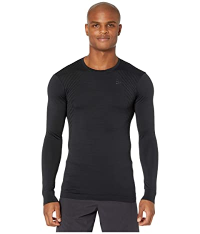 Craft Fuseknit Comfort Round Neck Long Sleeve (Black) Men
