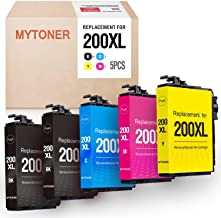MYTONER Remanufactured Ink Cartridge Replacement for Epson 200XL 200 XL for Expression XP-200 XP-300 XP-310 XP-400 XP-410 Workforce WF-2520 WF-2530 WF-2540 Printer(2 Black,1 Cyan, 1 Magenta,1 Yellow)
