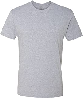 Next Level Apparel mens Next Level Premium Fitted Short-Sleeve Crew (3600) HEATHER GRAY
