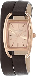 Caravelle New York Women's 44L123 Analog Display Japanese Quartz Brown Watch