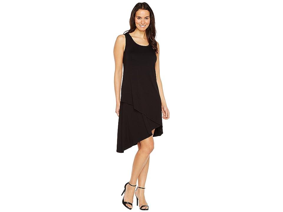 Karen Kane Asymmetric Hem Dress (Black) Women