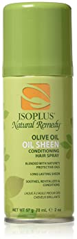 Isoplus Natural Remedy Olive Oil Sheen Conditioning Hair Spray, 2 oz