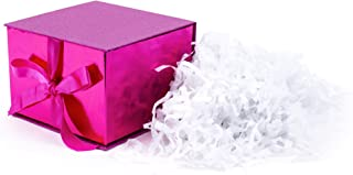 Hallmark Mahogany 5VXS1713 Large Gift Box for Birthdays, Bridal, Weddings, Baby Showers and More, One Size, Hot Pink Glitter