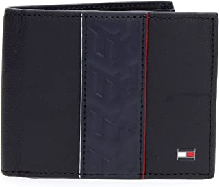 Tommy Hilfiger Leather Stripe Mini CC Wallet, Blue, AM0AM05664