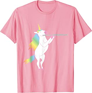 Beautiful Unicorn Playing Flute Musician Design T-Shirt