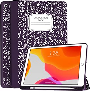 Soke New iPad 10.2 Case with Pencil Holder, iPad 8th Generation 2020/7th Generation 2019 Case-Premium Shockproof Case with...