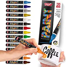 Paint Mark Quick-Dry Paint Pens - Write On Anything! Rock, Wood, Glass, Ceramic & More! Low-Odor, Oil-Based, Medium-Tip Paint Markers (20 Pack)