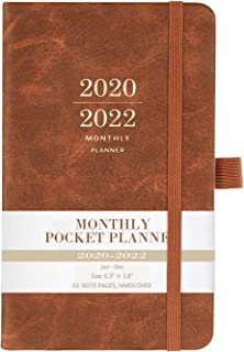 2020-2022 Monthly Pocket Planner - Three Year Pocket Monthly Calendar, 36 - Month Planner with Pen Hold, 6.3