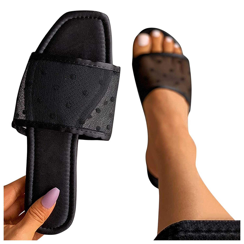 Padaleks Flat Max 50% Very popular! OFF Sandals for Women Comfort Summer Open Toe Do Polka