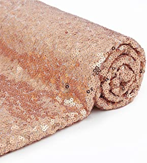 12 Feet 4 Yards Rose Gold Sequin Fabric by The 4 Yards Sequin Fabric Tablecloth Linen Xmas Decor Material for Sequin Dress