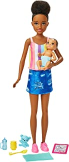 Barbie Skipper Babysitters Inc. Doll & Accessories Set with 9-in Brunette Doll, Baby Doll & 4 Storytelling Pieces for 3 to...