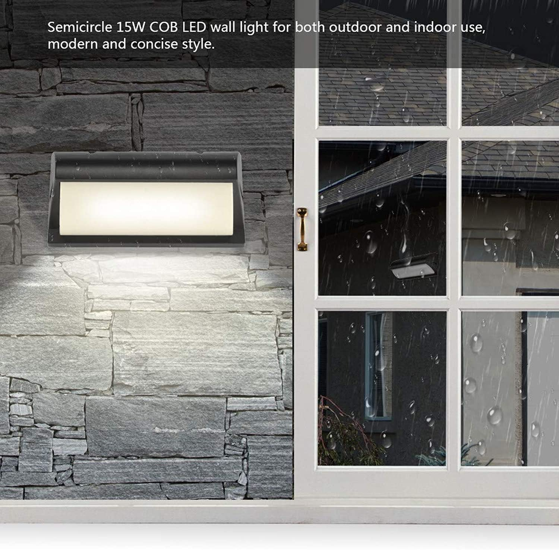2 stücke innen und auen LED wandleuchte COB wandleuchte Einfache beleuchtung wasserdichte dekorative lichter 15 Watt