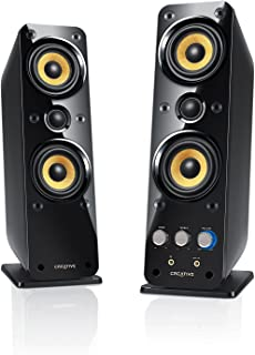 Creative GigaWorks T40 2.0 Speaker System - 32 W RMS - Glossy Black - 50 Hz to 20 kHz