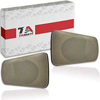 Quick, E-Z to Install Replacement Speaker Grilles for Toyota Camry Rear Speakers 2002-2006, Pair For Left and Right Side of Package Tray, Easy Drop-In Repair Brown, Tan or Beige T1A-04007-521AA-E0