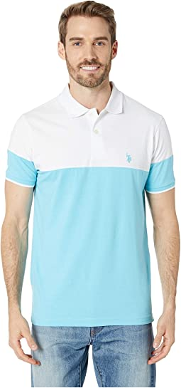 Color Block Jersey Polo