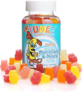 Mr. Tumee Multi-vitamin & Mineral Gumee (dietary Supplement), Natural Grape, Lemon, Orange, Strawberry, and Cherry, 60 Count