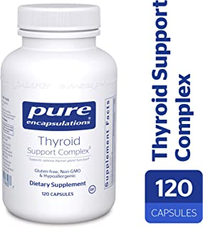 Pure Encapsulations - Thyroid Support Complex - Hypoallergenic Supplement with Herbs and Nutrients for Optimal Thyroid Gland Function* - 120 Capsules