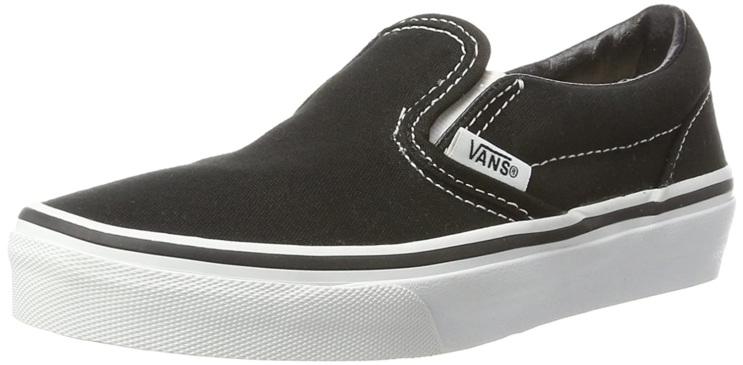 Vans Kids Classic Slip-On, Black/True White, 3.5
