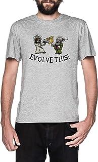 Evolve This!! Gris Camiseta Hombre Manga Corta Grey T-Shirt Men's