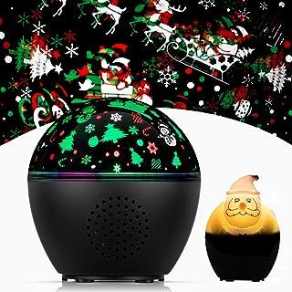 Faneam Lámpara Proyector Estrellas Infantil Music Led Nocturna Luz de Proyector Estrella Rotación Lámpara de Proyección con Control Remoto y Temporizador/Decoración Habitacion/Regalo Niños,15 Modos