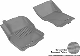 3D MAXpider Front Row Custom Fit All-Weather Floor Mat for Select Nissan Frontier Models - Kagu Rubber (Gray)
